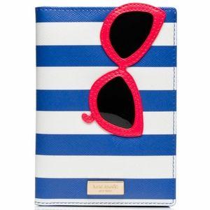 Kate Spade Striped Sunglasses Passport Holder